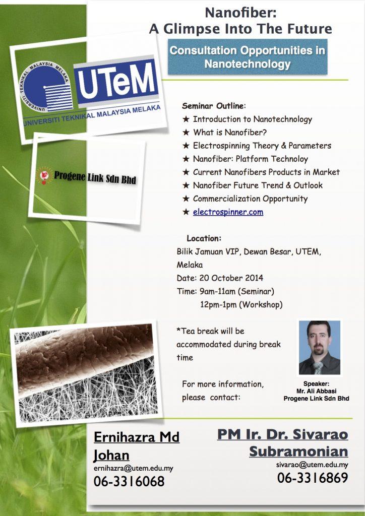 Nanofiber: A Glimpse Into The Future Workshop-UTEM